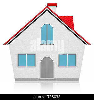 3D illustration. Home, home icon isolated on white background. - Stock Photo