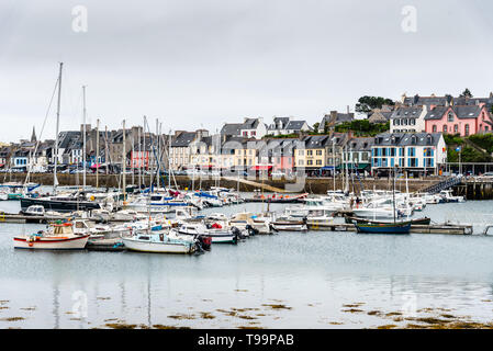 Camaret-sur-Mer, France - August 4, 2018: Scenic view of the port and waterfront - Stock Photo