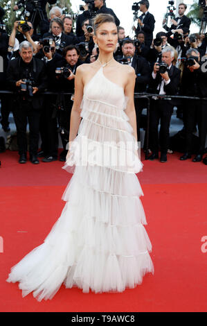 Bella Hadid attending the 'Rocketman' premiere during the 72nd Cannes Film Festival at the Palais des Festivals on May 16, 2019 in Cannes, France - Stock Photo