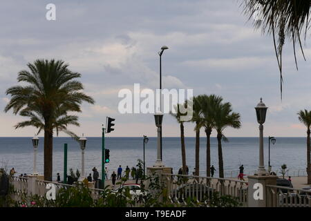 The harbor promenade of Beirut, Lebanon - Stock Photo