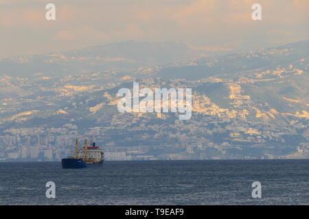 The coast of Beirut, Lebanon - Stock Photo