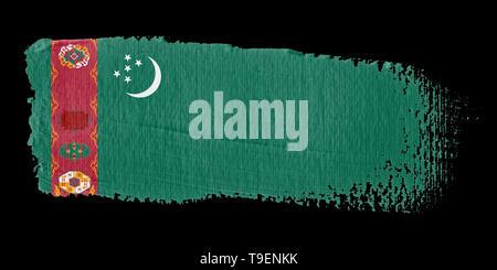 Brushstroke Flag Turkmenistan - Stock Photo