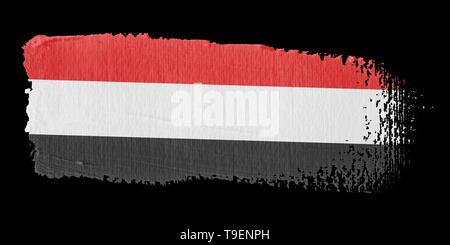 Brushstroke Flag Yemen - Stock Photo