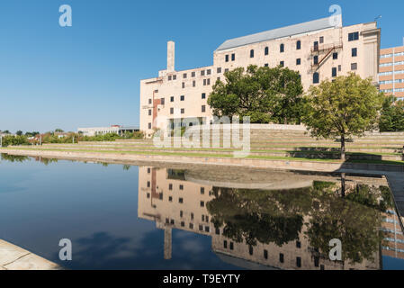 Oklahoma City, OK - August 22, 2015: The Oklahoma City National Memorial Museum is in the west end of the former Journal Record Building and tells the - Stock Photo