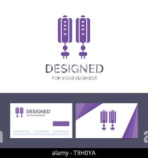 Creative Business Card and Logo template Pendant, China, Chinese, Decoration Vector Illustration - Stock Photo