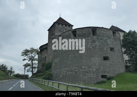 Vaduz Castle, the official residence of the royal of Liechtenstein - Stock Photo