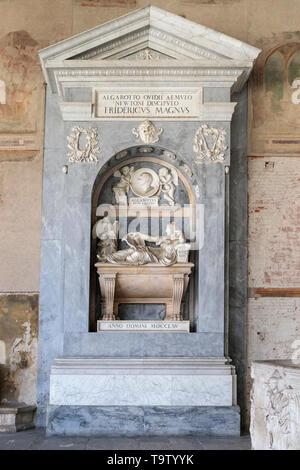 Art work in the Campo Santo in the Paizza del Duomo in Pisa - Stock Photo