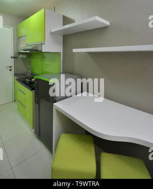 Kitchen set in the small apartement - Stock Photo