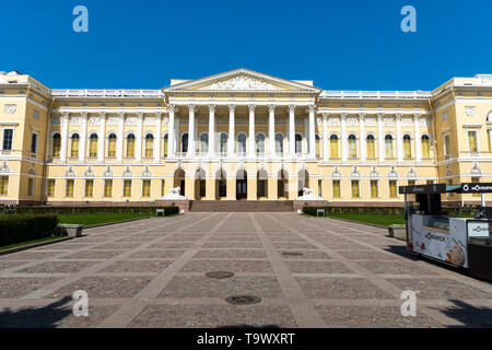 Saint Petersburg, Russia - May 2019: Michael palace, building of the State Russian museum. Architecture landscape of a popular St Petersburg landmark. - Stock Photo