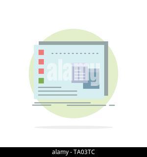 Window, Mac, operational, os, program Flat Color Icon Vector - Stock Photo