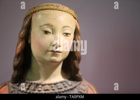 Sainte-Barbe. Ancien Hôpital Saint-Joseph. (Allier). Bourbonnais. Dernier quart du XV ème siècle. Musée de La Visitation. Moulins. - Stock Photo