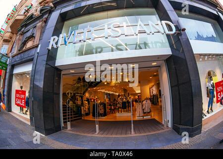 River Island fashion store, fisheye view - Stock Photo