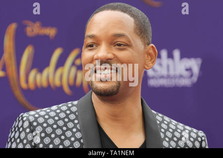 Los Angeles, USA. 21st May, 2019. Will Smith at The World Premiere of Disney's 'Aladdin' held at El Capitan Theatre, Hollywood, CA, May 21, 2019. Photo Credit: Joseph Martinez/PictureLux Credit: PictureLux / The Hollywood Archive/Alamy Live News - Stock Photo