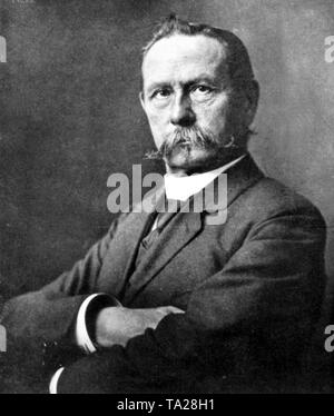 The automotive pioneer Carl Friedrich Benz (1844-1929) builder the first automobiles, in 1883 founded the company Benz & Cie. which merged with Daimler-Benz AG in 1926. - Stock Photo