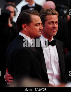 Cannes Film Festival 21stMay at a Red Carpet Brad Pitt Leonardo Dicaprio - Stock Photo