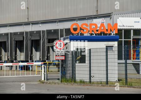Osram work, work gate Motardstrasse, Siemensstadt, Spandau, Berlin, Germany, Osram Werk, Werkstor Motardstraße, Deutschland - Stock Photo
