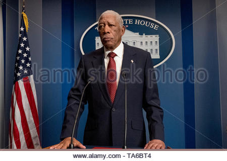 RELEASE DATE: August 23, 2019 TITLE: Angel Has Fallen STUDIO: Summit Entertainment DIRECTOR: Ric Roman Waugh PLOT: Secret Service Agent Mike Banning is framed for the attempted assassination of the President and must evade his own agency and the FBI as he tries to uncover the real threat. STARRING: MORGAN FREEMAN as Allan Trumbull. (Credit Image: © Summit Entertainment/Entertainment Pictures) - Stock Photo