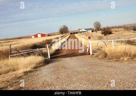 Farm in Oklahoma, USA - Stock Photo
