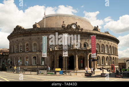 The listed Victorian Corn Exchange building in Leeds city centre, Yorkshire, England, UK - Stock Photo
