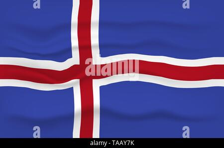 Flag of Iceland - Stock Photo
