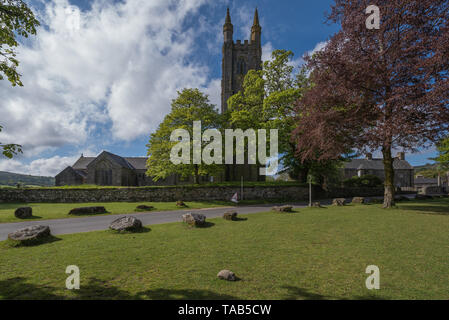 Beautiful view of Widdecombe church - Stock Photo
