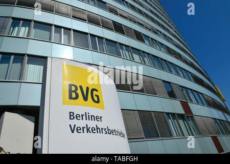 BVG headquarters, Holzmarktstrasse, middle, Berlin, Germany, BVG-Zentrale, Holzmarktstraße, Mitte, Deutschland - Stock Photo