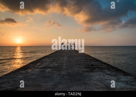 Wooden bridge on the beach.,Summer, Travel, Vacation and Holiday concept in Thailand - Stock Photo