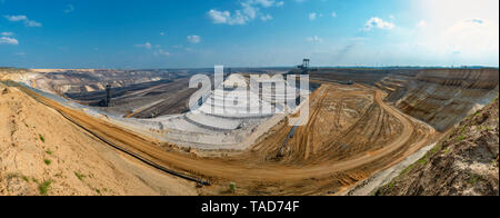 Germany, Juechen, Garzweiler II, Garzweiler surface mine - Stock Photo