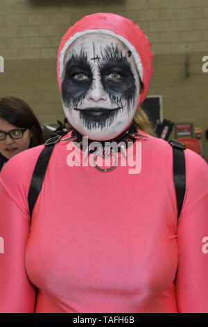 London, UK. 24th May, 2019. Cosplay fans came to London on May 24, 2019 for the MCM Comic Con London 2019, which took place at the Excel Centre with hundreds of stall exhibition. The weekend offered comic fans the chance to dress up as their favourite characters. Credit: Picture Capital/Alamy Live News - Stock Photo