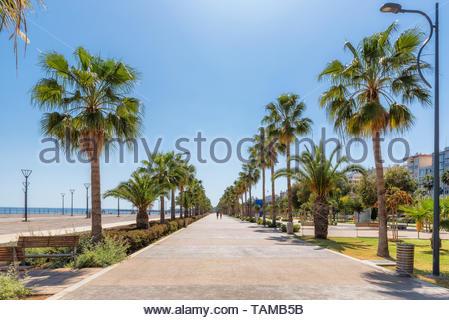 Promenade alley in Limassol, Cyprus - Stock Photo