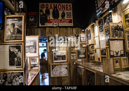 The Ramones Museum and pub in Kreuzberg with more than 1000 Ramones items and gadgets. Berlin, May 22nd, 2019 - Stock Photo