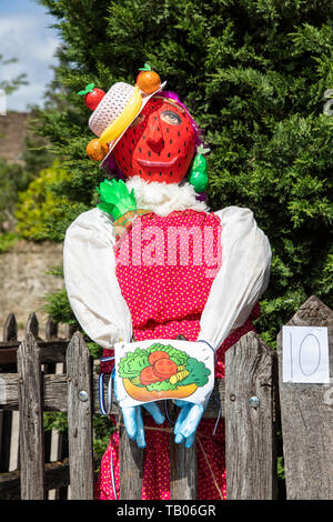 Lacock village Annual Fundraising event - Scarecrow Trail 2019, Lacock, Wiltshire, UK - Stock Photo