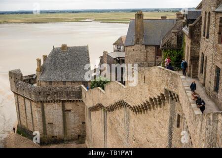 Le Mont Saint Michele, Manche, Normandy, France - Stock Photo