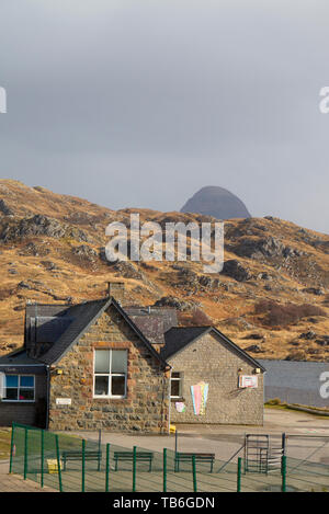 Lochinver primary school, Sutherland - Stock Photo