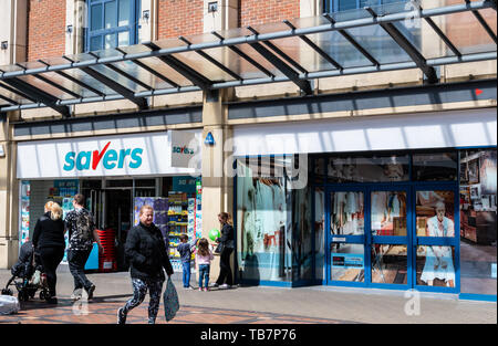 Swindon, United Kingdom - May 04 2019:   The Frontage of Savers Store on the Parade - Stock Photo