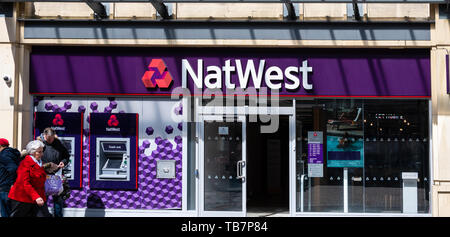 Swindon, United Kingdom - May 04 2019:   The Frontage of NatWest Bank on the Parade - Stock Photo
