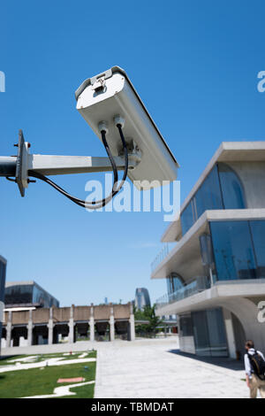 CCTV in urban district - Stock Photo