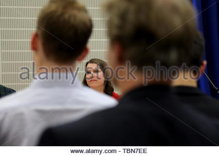 London/Uk. 31st May, 2019. Jo Swinson, Liberal Democrat MP for East Dunbartonshire, at the party's leadership election hustings at the City of London Academy in Highbury, north London Credit: Dominic Dudley/Pacific Press/Alamy Live News - Stock Photo