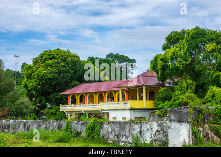 View of the Cilu Bintang Estate, Banda Naira, Indonesia - Stock Photo