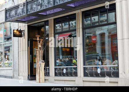 Chez Boulay Bistro Boreal Restaurant on Rue Saint-Jean in Quebec City, Quebec Canada - Stock Photo