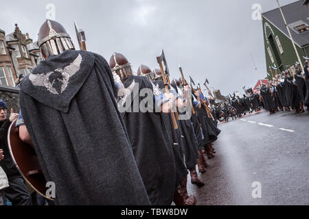 Lerwick, Shetland Isles, Scotland, UK. 30th January 2018. Up Helly Aa viking fire festival which is unique to Shetland and held on the last Tuesday in - Stock Photo