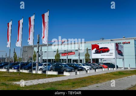 Audi centre, Rudower avenue, eagle court, Treptow-Köpenick, Berlin, Germany, Audi Zentrum, Rudower Chaussee, Adlershof, Deutschland - Stock Photo