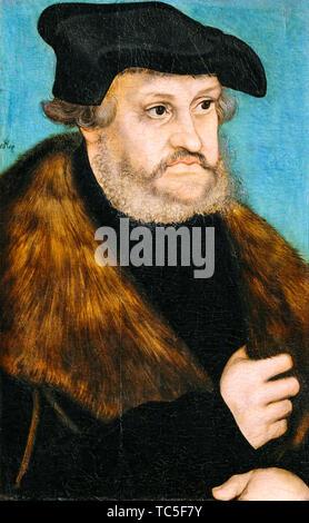 Lucas Cranach the Elder, Frederick the Wise, 1463-1525, portrait painting, circa 1525 - Stock Photo