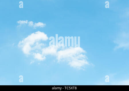 Sunny clouds in summer afternoons - Stock Photo
