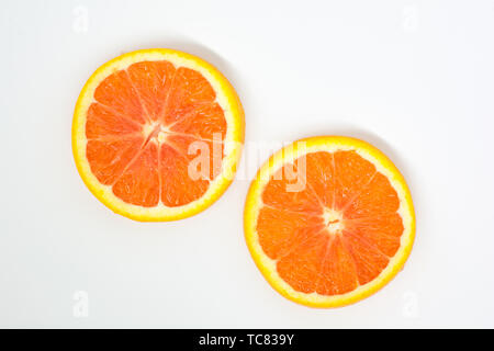 Blood orange slices - Stock Photo