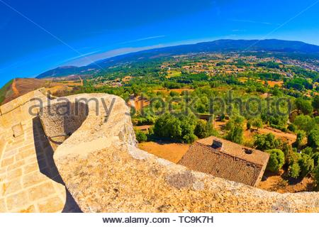 Castle of Monterrey, 10-12th Century Fortress-Palace, Luxury Parador Hotel, Good of Cultural Interest, Spanish National Heritage Site, Monterrey, - Stock Photo