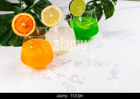 Tropical summer cocktails - Stock Photo