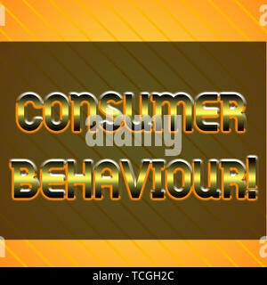 Word writing text Consumer Behaviour. Business photo showcasing Decisions that showing make to buy or not to buy a product Infinite Diagonal Pattern Y - Stock Photo