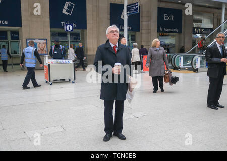 London, UK. 8th June, 2019. Labour Shadow Chancellor of the Exchequer John McDonnell, British Member of Parliament for Hayes and Harlington seen at Waterloo Station. Credit: Amer Ghazzal/SOPA Images/ZUMA Wire/Alamy Live News - Stock Photo