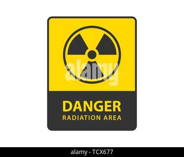 Radiation icon vector. Warning radioactive sign danger symbol. - Stock Photo